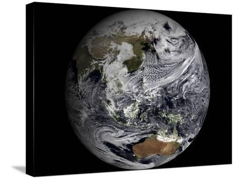 January 2, 2009 - Cloud Simulation of the Full Earth--Stretched Canvas Print
