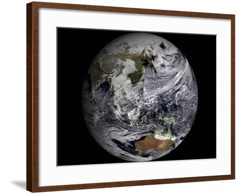 January 2, 2009 - Cloud Simulation of the Full Earth--Framed Art Print