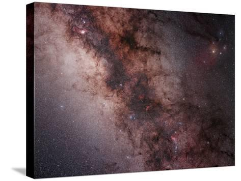 Stars, Nebulae and Dust Clouds around the Center of the Milky Way--Stretched Canvas Print