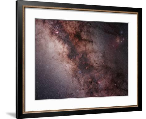 Stars, Nebulae and Dust Clouds around the Center of the Milky Way--Framed Art Print