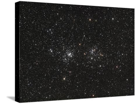 Double Cluster in Perseus (NGC 869 and NGC 884)--Stretched Canvas Print