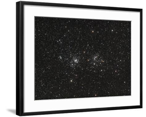 Double Cluster in Perseus (NGC 869 and NGC 884)--Framed Art Print