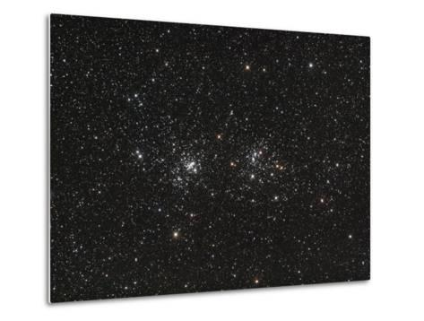 Double Cluster in Perseus (NGC 869 and NGC 884)--Metal Print