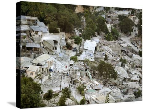 View of Port-Au-Prince, Haiti, after a Magnitude 7 Earthquake Hit the Country--Stretched Canvas Print