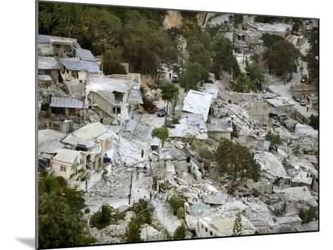 View of Port-Au-Prince, Haiti, after a Magnitude 7 Earthquake Hit the Country--Mounted Photographic Print