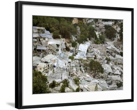 View of Port-Au-Prince, Haiti, after a Magnitude 7 Earthquake Hit the Country--Framed Art Print