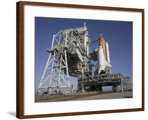 Space Shuttle Endeavour Atop a Mobile Launcher Platform at Kennedy Space Center--Framed Art Print