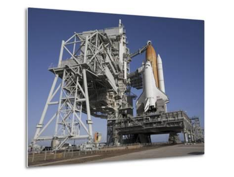 Space Shuttle Endeavour Atop a Mobile Launcher Platform at Kennedy Space Center--Metal Print