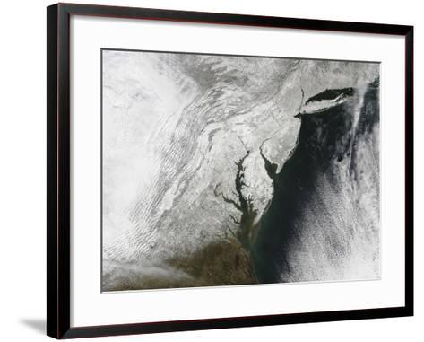 A Severe Winter Storm Along the United States East Coast--Framed Art Print