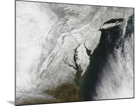 A Severe Winter Storm Along the United States East Coast--Mounted Photographic Print