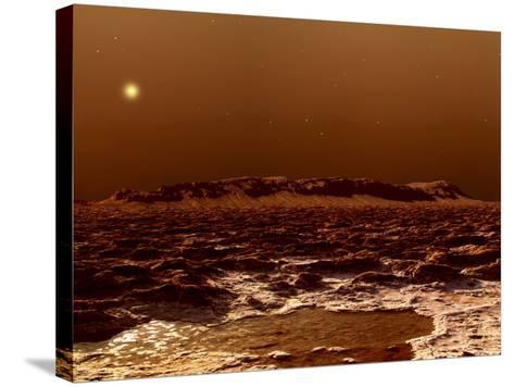 A View from the Edge of the Southern Polar Cap of Mars--Stretched Canvas Print