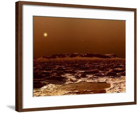 A View from the Edge of the Southern Polar Cap of Mars--Framed Art Print