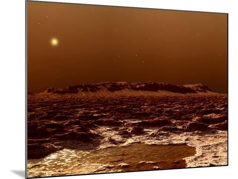A View from the Edge of the Southern Polar Cap of Mars--Mounted Photographic Print