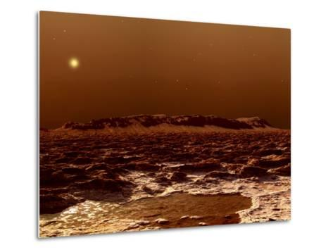 A View from the Edge of the Southern Polar Cap of Mars--Metal Print