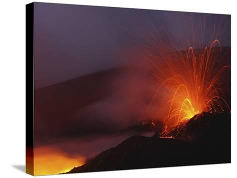 Mount Etna Eruption, Sicily, Italy--Stretched Canvas Print