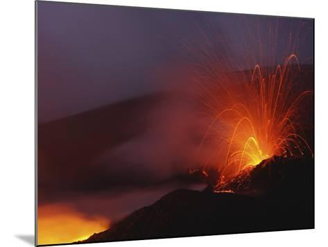 Mount Etna Eruption, Sicily, Italy--Mounted Photographic Print