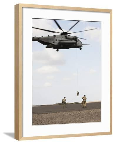 Air Force Pararescuemen Conduct a Combat Insertion and Extraction Exercise in Djibouti, Africa--Framed Art Print