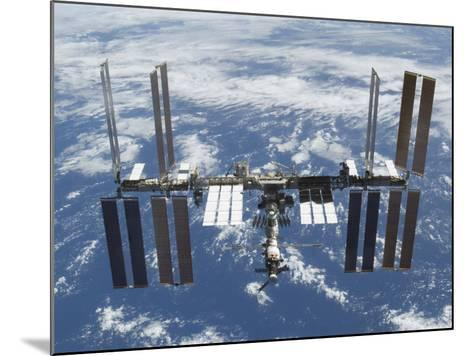 International Space Station in Orbit Above the Earth--Mounted Photographic Print