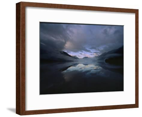 Sunset at Lake Crescent, Olympic National Park, Washington-James P^ Blair-Framed Art Print
