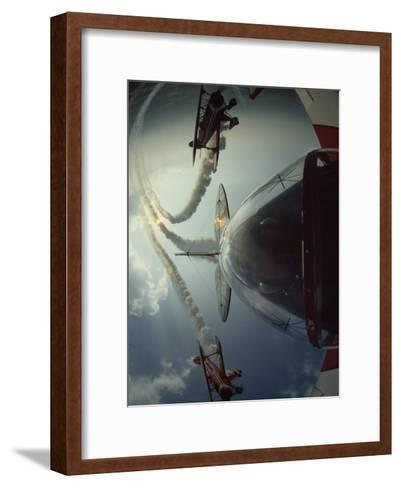 Expert Pilots Perform in Home-Built Pitts Specials at an Airshow-Jim Sugar-Framed Art Print