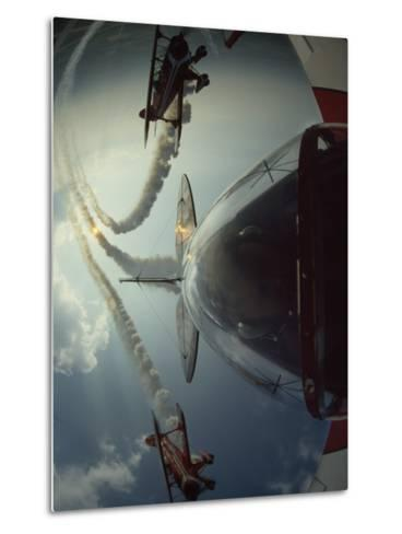 Expert Pilots Perform in Home-Built Pitts Specials at an Airshow-Jim Sugar-Metal Print