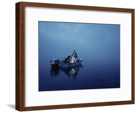 Scientists Take Samples to Study Radioactive Discharges-William T. Douthitt-Framed Art Print