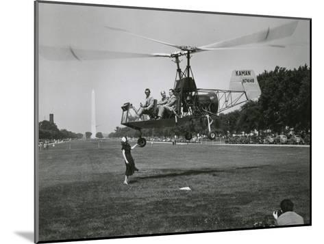 Inventor Charles Kaman Showing Off His K-225 Helicopter-Ernest J^ Cottrell-Mounted Photographic Print