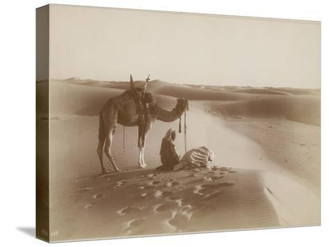 Desert Travelers Bow in Praise to Allah-Lehnert & Landrock-Stretched Canvas Print