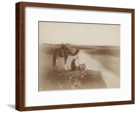 Desert Travelers Bow in Praise to Allah-Lehnert & Landrock-Framed Art Print