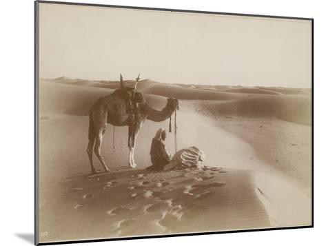 Desert Travelers Bow in Praise to Allah-Lehnert & Landrock-Mounted Photographic Print