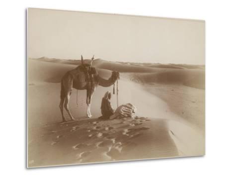 Desert Travelers Bow in Praise to Allah-Lehnert & Landrock-Metal Print