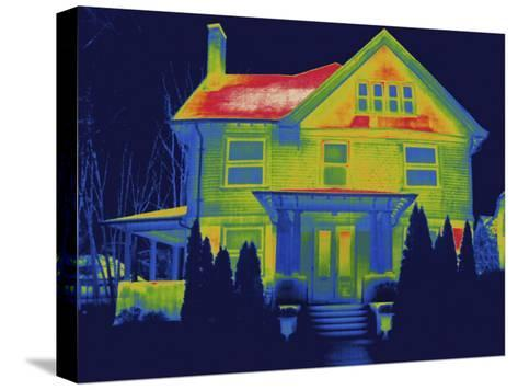 Thermal Image of a Residence in New Haven-Tyrone Turner-Stretched Canvas Print