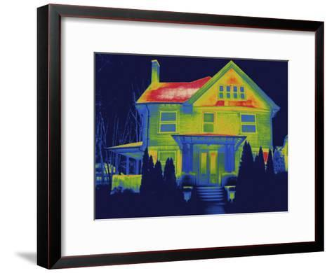 Thermal Image of a Residence in New Haven-Tyrone Turner-Framed Art Print