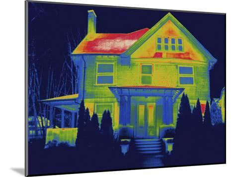 Thermal Image of a Residence in New Haven-Tyrone Turner-Mounted Photographic Print