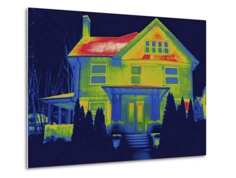 Thermal Image of a Residence in New Haven-Tyrone Turner-Metal Print