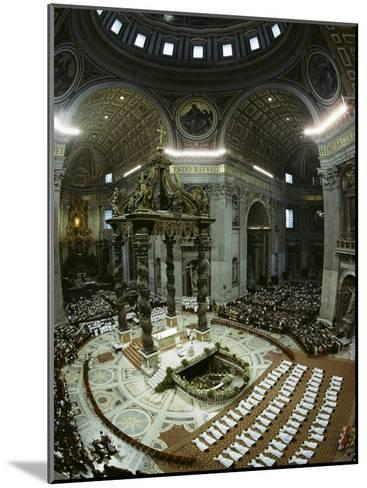 Candidates for Priesthood Lie Prostrate before St Peter's High Altar-James L^ Stanfield-Mounted Photographic Print