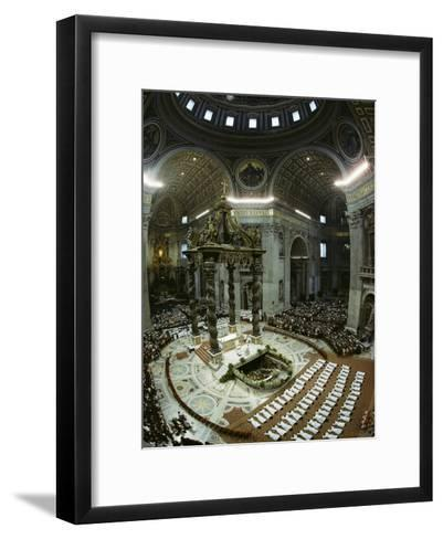 Candidates for Priesthood Lie Prostrate before St Peter's High Altar-James L^ Stanfield-Framed Art Print