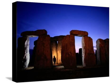 Twilight View of the Ruins of Stonehenge-Richard Nowitz-Stretched Canvas Print