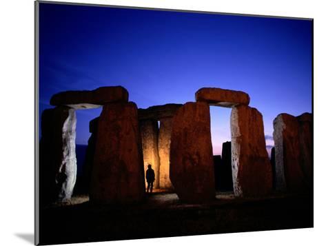 Twilight View of the Ruins of Stonehenge-Richard Nowitz-Mounted Photographic Print