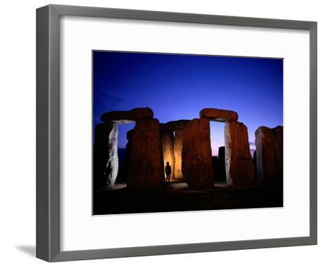Twilight View of the Ruins of Stonehenge-Richard Nowitz-Framed Art Print