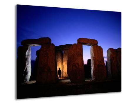 Twilight View of the Ruins of Stonehenge-Richard Nowitz-Metal Print