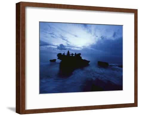 Tanah Lot Temple Stands Perched Atop a Rock in the Indian Ocean-Michael Nichols-Framed Art Print