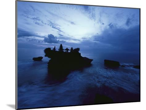 Tanah Lot Temple Stands Perched Atop a Rock in the Indian Ocean-Michael Nichols-Mounted Photographic Print