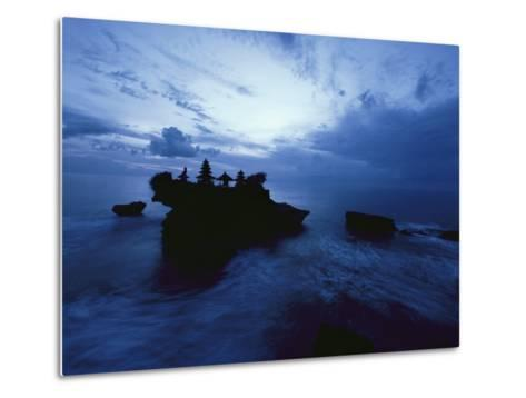 Tanah Lot Temple Stands Perched Atop a Rock in the Indian Ocean-Michael Nichols-Metal Print