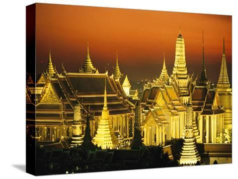 Grand Palace and Temple of the Emerald Buddha, Wat Phra Kaeo-Paul Chesley-Stretched Canvas Print
