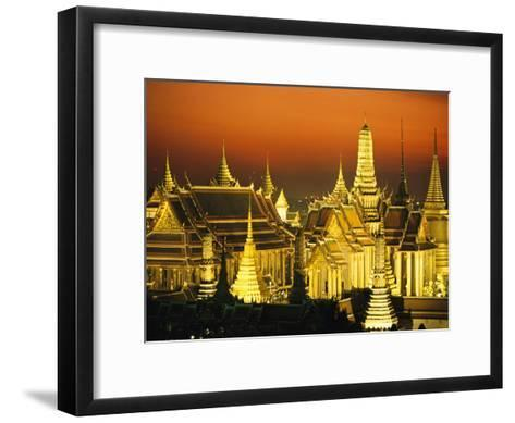 Grand Palace and Temple of the Emerald Buddha, Wat Phra Kaeo-Paul Chesley-Framed Art Print