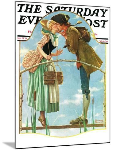 """""""Milkmaid"""" Saturday Evening Post Cover, July 25,1931-Norman Rockwell-Mounted Giclee Print"""