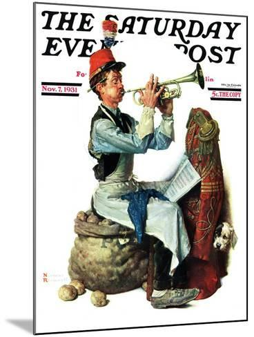 """""""Trumpeter"""" Saturday Evening Post Cover, November 7,1931-Norman Rockwell-Mounted Giclee Print"""