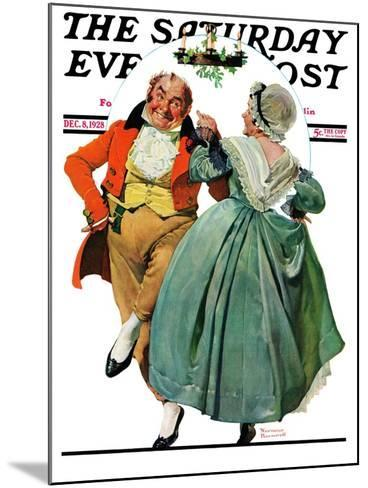 """Christmas Dance"" or ""Merrie Christmas"" Saturday Evening Post Cover, December 8,1928-Norman Rockwell-Mounted Giclee Print"