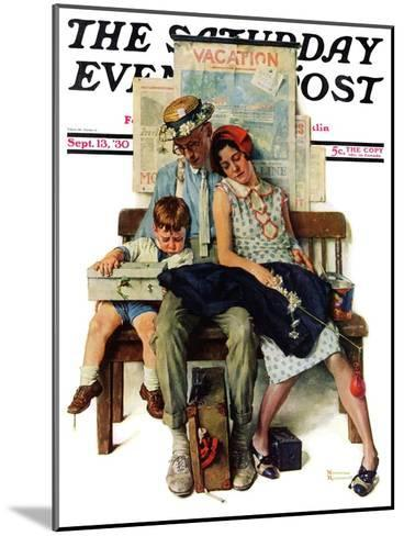 """""""Home from Vacation"""" Saturday Evening Post Cover, September 13,1930-Norman Rockwell-Mounted Giclee Print"""